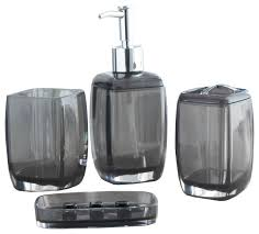 acrylic bathroom accessory sets contemporary bathroom accessory