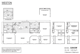 weston 32643w by fleetwood homes floor plan photos