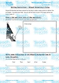 writing instructions wizard wickersley s potion teach my kids