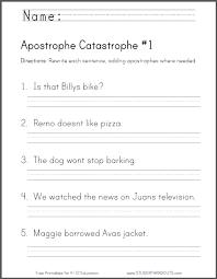 apostrophe catastrophe worksheet 1 ccss l 2 2 c primary