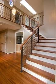 wood steps u0026 glass banister modern staircase at knobhill in
