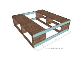 Bed Frame Plans With Drawers White Scrap Wood Storage Bed With Drawers Diy Projects