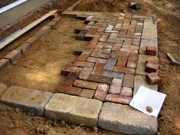 images of 90 degree herringbone pattern paver patio herringbone