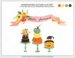 autumn clip art watercolor clipart fall halloween clip art