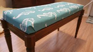 How To Make Bench Cushions Easy Pugs U0026 Pearls Piano Bench Diy
