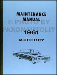 1962 1963 mercury monterey repair shop manual supplement original