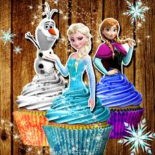 printable frozen cupcake toppers elsa cupcake toppers