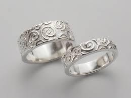 unique matching wedding bands unique matching wedding bands spiral swirl pattern wedding