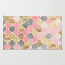Silver Grey Rug Silver Grey Soft Pink Wood U0026 Gold Moroccan Pattern Rug By