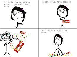 skittles rage rage comics know your meme
