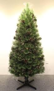 rotating fiber optic tree lights decoration