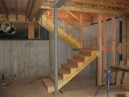 trendy design how to build basement stairs unfinished basement