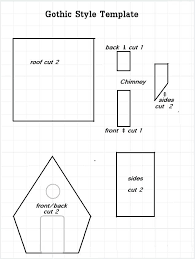pattern for large gingerbread house paper house template free documents download free free paper house