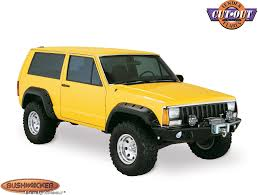 comanche jeep 2014 bushwacker 10912 07 cut out fender flares for 84 96 jeep cherokee