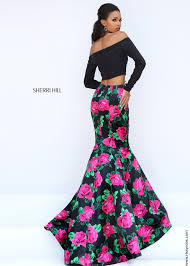 sherri hill 50584 long two piece floral mermaid dress rissyroos com