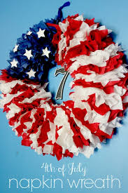 4th of july wreaths 4th of july napkin wreath delicate construction