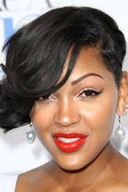 short hairstyles for women showing front and back views pay attention guys meagan good is showing us that a punk haircut