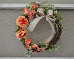 bridal luncheon decorations grapevine wreath etsy