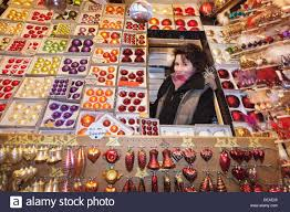sales at a stand selling decoration at the