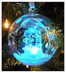 modest decoration lighted ornaments clear