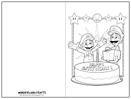 printable coloring birthday cards all coloring page