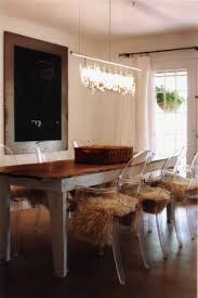 Ghost Dining Chair Modern Ghost Chairs Contrasting With Rustic Farm Table In The