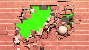 Brick Wall by Green Screen Intro Brick Wall Explosion Footage Pixelboom Youtube