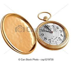 stock illustrations of open pocket watch isolated illustration