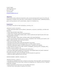 Resume Examples For Janitorial Position by Sample Resume Of Janitorial Position Resume Ixiplay Free Resume