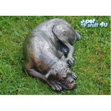 boxer dog statue dog ashes urn