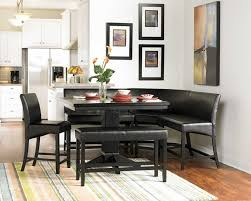 decorative black kitchen table with bench small rectangle