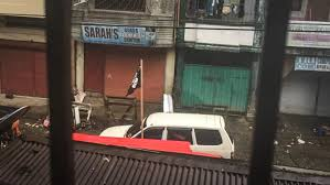 Philippine Flag Means Maute Group Waves Isis Black Flag On Marawi Streets