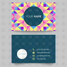 blank visiting card templates with curved pattern vector image