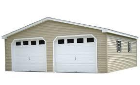 Building A Two Car Garage Bayhorse Gazebos U0026 Barns Vinyl A Frame One Story Two Car