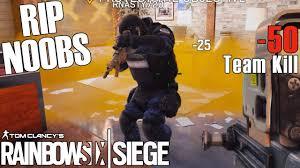 a noobs first teamkill rainbow six siege youtube