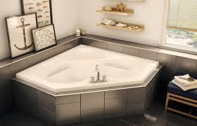 bathroom white bathtub dimensions with wood decor and silver