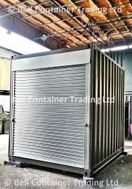 shipping container market stalls roller shutters container
