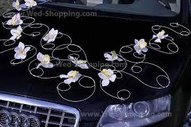 kit deco voiture mariage décoration voiture mariage orchidées blanches décoration voiture