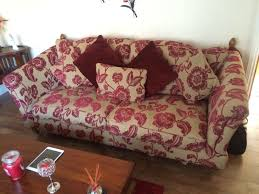 Red Floral Sofa by Ex Scs Windsor Cranberry Floral Fabric Patterned 3 Seater Love