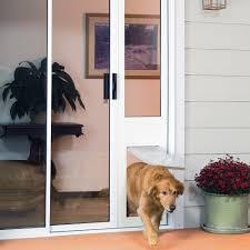 Sliding Glass Door With Dog Door by Patio Doors Petsafe Freedom Aluminum Patio Panel Sliding Glass