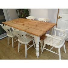 6ft pine farmhouse dining table and chairs and bench painted