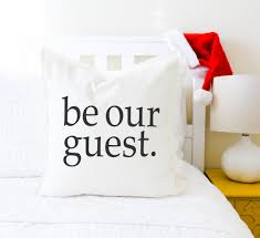 be our guest pillow cover gray or white beauty and the beast