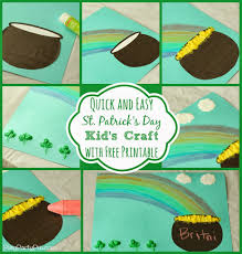 simple st patrick u0027s day craft for kids with crayola play party plan