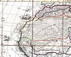 Map West Africa by North And West Africa 1829 Map Tifariti Western Sahara U2022 Mappery
