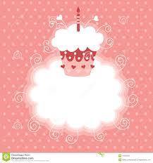 Cherry Cupcake Invitation Card Royalty Cherry Cupcake Invitation Card Royalty Free Stock Image Image