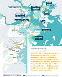 Map Of Boston Harbor by Making Boston U0027s Waterfront Climate Ready Harbor Barrier Study
