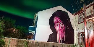 icelandic murals northern lights wall poetry 2016 in reykjavik icelandic murals northern lights wall poetry 2016 in reykjavik huffpost