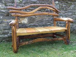 Wooden Garden Furniture Ideas Rustic Log Wood Garden Benches With Varnished Finish Cozy Garden
