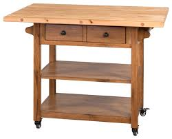 kitchen island cart with drop leaf sedona drop leaf butcher block table transitional kitchen