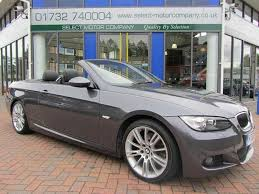used bmw 3 series uk used bmw 3 series 2007 petrol 320i m sport convertible grey manual